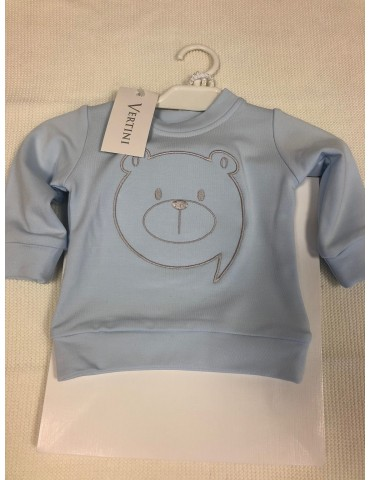 Bluza niemowlęca bambusowa haft MIŚ niebieska  62-74 Vertini