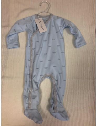 Pajac niemowlęcy bawełniany OKULARKI niebieskie 56-68 Vertini
