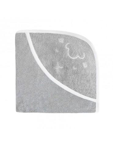 Effiki Ręcznik z kapturkiem Owieczka Szary 95 x 95 cm