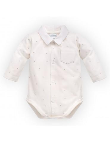 Body niemowlęce bawełniane długi rękaw PRINCE 56-62 Pinokio