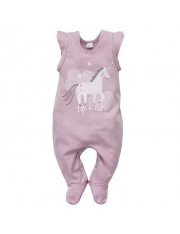 Śpioch niemowlęcy bawełniany wrzos UNICORN 56-74 Pinokio