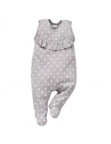 Śpioch niemowlęcy bawełniany szary UNICORN 56-74 Pinokio