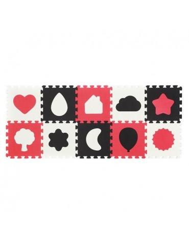 BabyOno Puzzle piankowe 10szt kształty