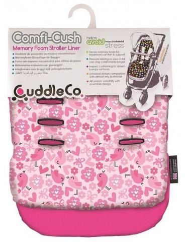 Wkładka Comfi Cush do wózka CuddleCo (Różowe Ptaszki)