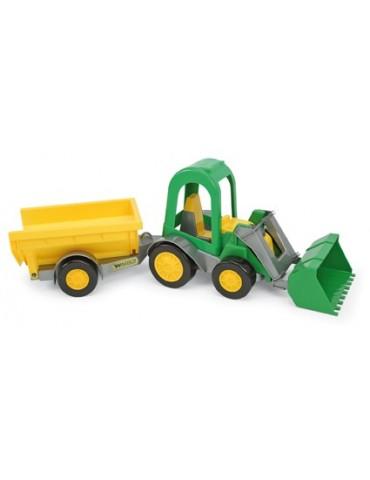 Wader Traktor z Łyżką i Przyczepą Towarową w kartonie