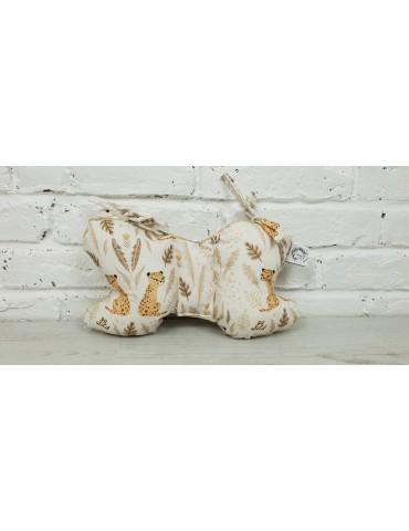 Bonjour poduszka motylek Gepardy Minky Bleached Sand