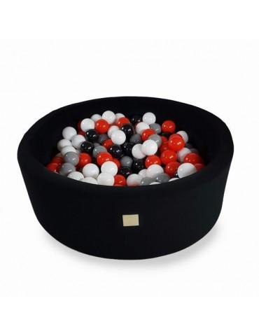 Zorin Czarny suchy basen 40cm z kulkami czarne,szare,czerwone,białe