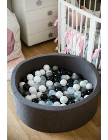 Zorin Czarny suchy basen 40cm z kulkami czarne,złote,biała perła ,transparentna