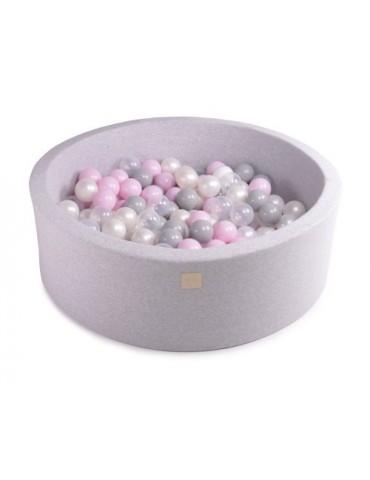 Zorin Jasnoszary suchy basen 40cm z kulkami patelowy róż,szare,biała perła ,transparentna