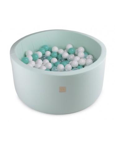 Zorin Miętowy suchy basen 40cm z kulkami kulki białe,turkusowe,szare,transparentne