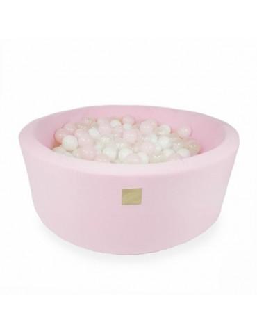 Zorin Różowy suchy basen 40cm z kulkami kulki pastelowy,biała perła, róż,mięta,transparent