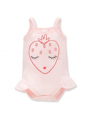 Body niemowlęce bawełniane na ramiączkach LOVE AND LOVE 62-80 Pinokio