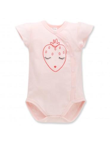 Body niemowlęce bawełniane krótki rękaw regulowane LOVE AND LOVE 56-74 Pinokio
