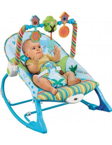 KONIG KIDS Leżaczek z wibracjami i pozytywką dla niemowląt do 18 kg