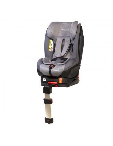 Fotelik BabySafe Schnauzer Grey mocowany pasem lub isofixem