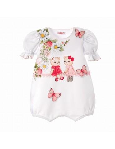 Pajacyk Rampers niemowlęcy bawełniany KROPCIA 62-80 Sofija