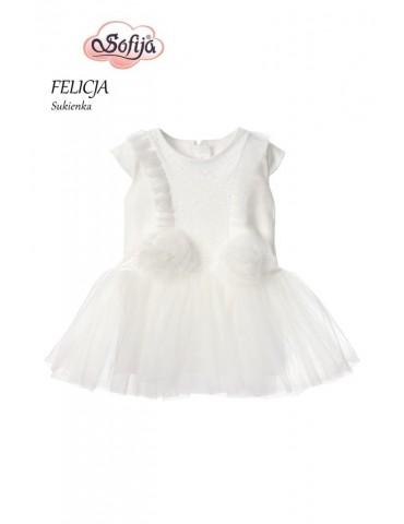 Sukienka niemowlęca bawełniana KROPCIA 62-80 Sofija