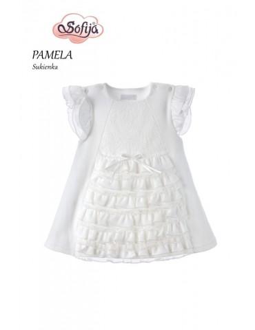 Sukienka niemowlęca bawełniana z tiulem FELICJA 62-74 Sofija