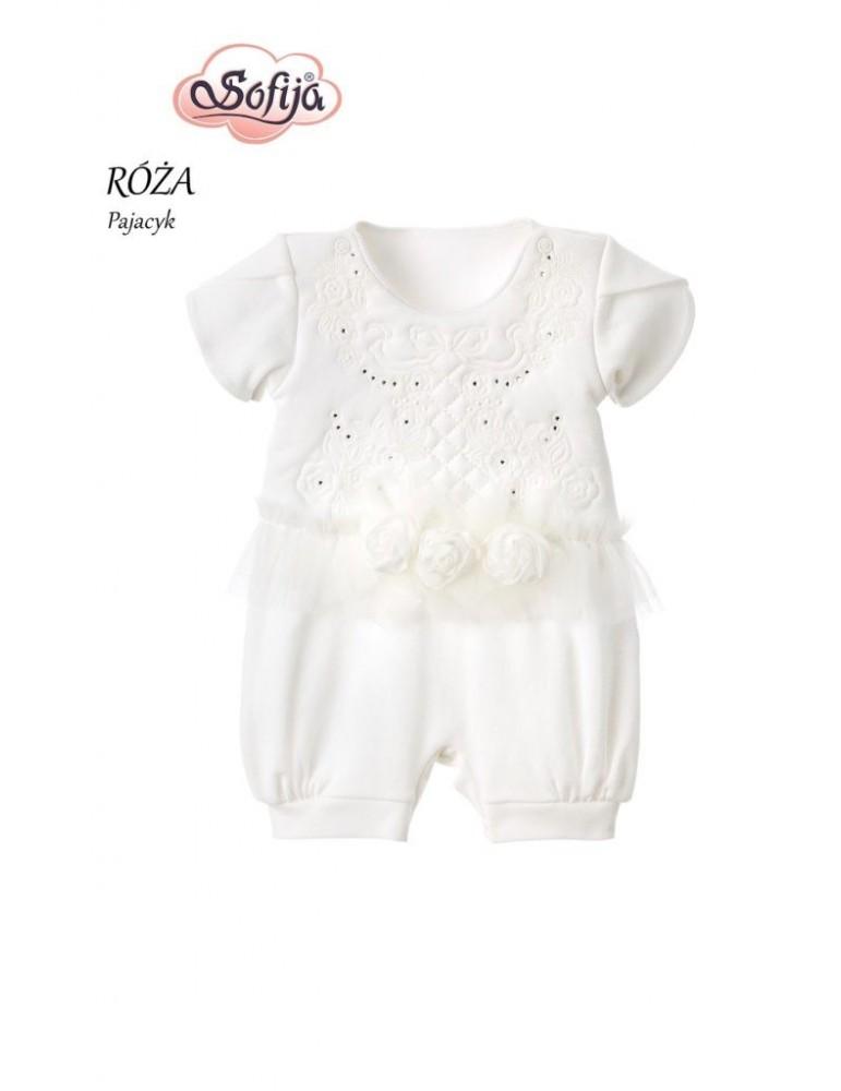 Pajacyk Rampers niemowlęcy bawełniany RÓŻA 62-74 Sofija
