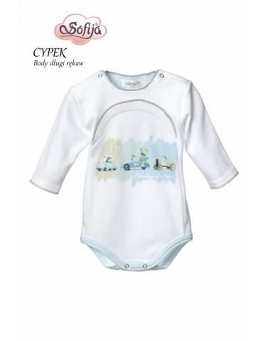 Body niemowlęce bawełniane długi rękaw CYPEK 56-74 Sofija