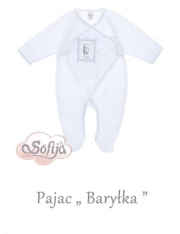 Pajac niemowlęcy bawełniany BARYŁKA 50-62 Sofija