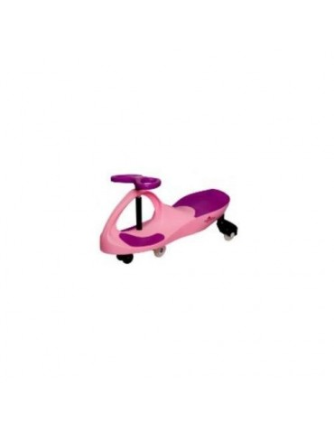 Art Crazycar Jeździk grawitacyjny różowo-fioletowy pastelowy Led