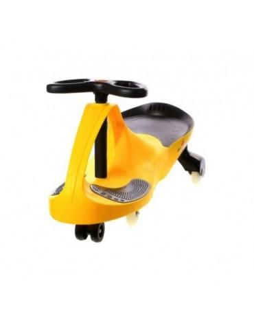 Art Crazycar Jeździk grawitacyjny żółty Led