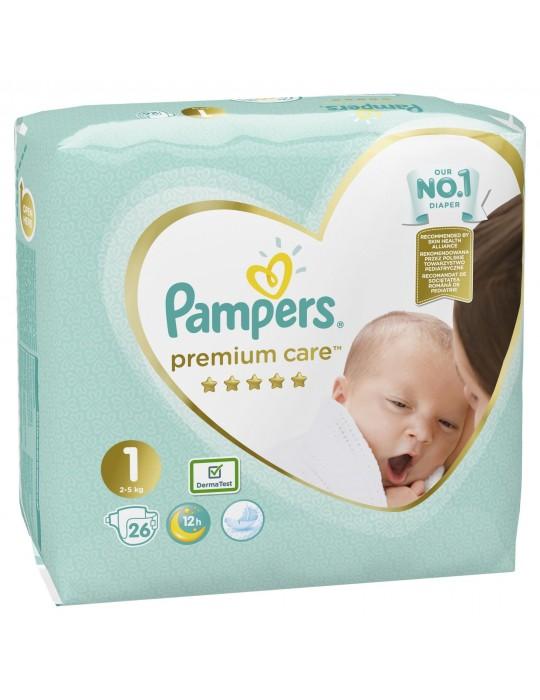 Pieluchy Pampers Premium Care 1 Newborn 26szt. 2-5kg