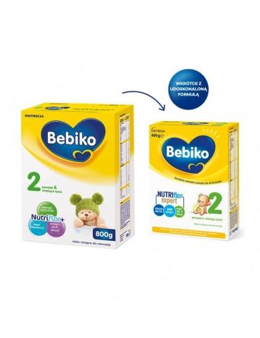 Mleko modyfikowane Bebiko 2R NutriFlor+ 800g po 6 miesiącu