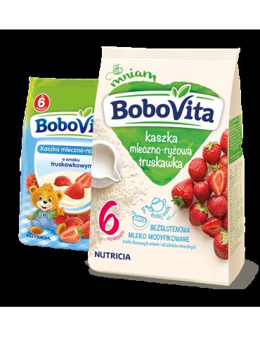 Kaszka mleczno-ryżowa o smaku truskawkowym 230g BoboVita