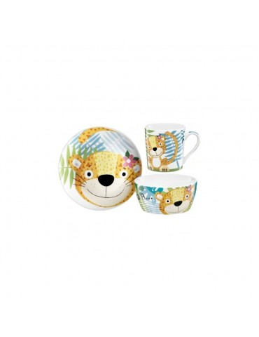 Porcelanowy zestaw śniadaniowy Mimi 3 elementowy Ambition Junior