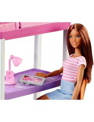 Barbie Sypialnia z lalką i łóżkiem piętrowym