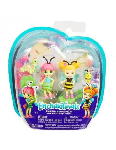 EnchanTimals Lalki Małe przyjaciółki 2-pak Kwitnący Ogród Cay Caterpillar i Beetrice Bee