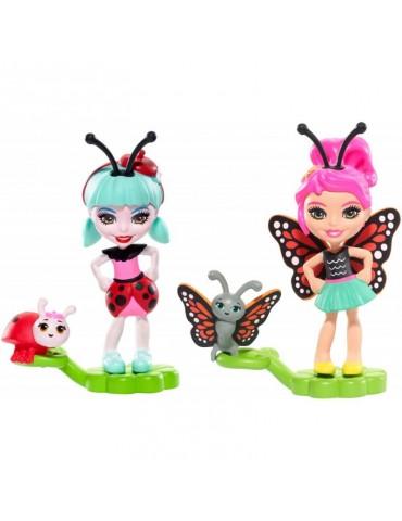 EnchanTimals Lalki Małe przyjaciółki 2-pak Kwitnący Ogród Baxi Butterfly i Ladelia Ladybug