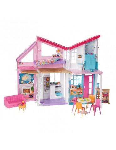 Barbie Domek Malibu dla lalek z wyposażeniem