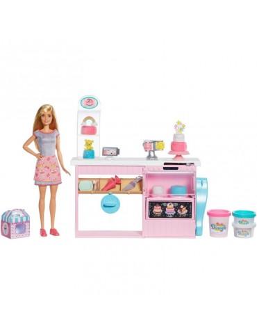 Barbie Pracownia wypieków Zestaw z lalką, akcesoriami i masą plastyczną