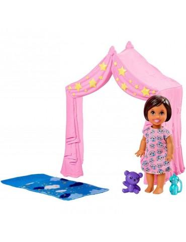 Barbie Skipper Akcesoria spacerowe Zabawa w Namiocie + laleczka
