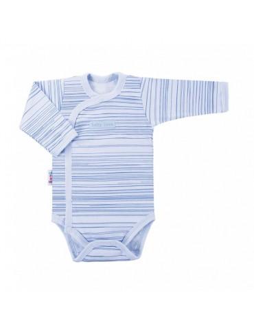 Body niemowlęce bawełniane długi rękaw regulowane paski SKY 56-62 Ewa Klucze