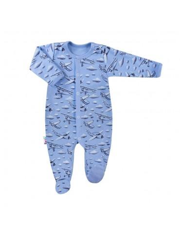 Pajac niemowlęcy bawełniany samoloty SKY 56-68 Ewa Klucze