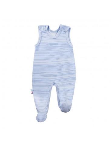 Śpioch niemowlęcy bawełniany paski SKY 56-68 Ewa Klucze