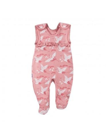 Śpioch niemowlęcy bawełniany żurawie SKY 56-68 Ewa Klucze