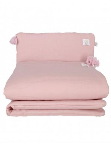 Yosoy Muślinowa pościel z chwostami organic cotton Dusty pink