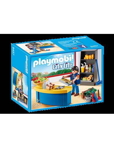 Woźny w sklepiku Playmobil