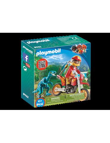 Rower motocrossowy z raptorem Playmobil