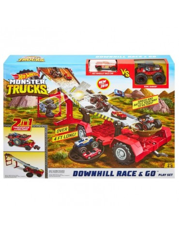 Hot Wheels Monster Truck Zestaw kaskaderski 2w1 Meganaczepa z rampą I Pojazd Monster Trucks i Samochodzik