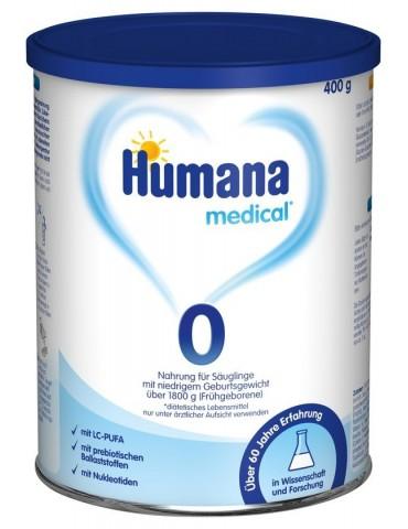 Humana 0 mleko początkowe dla wcześniaków z masą ciała powyżej 1800g od urodzenia