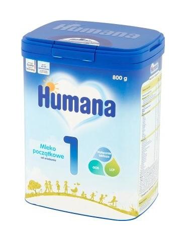Humana 1 Mleko początkowe od urodzenia Mypack 800gr