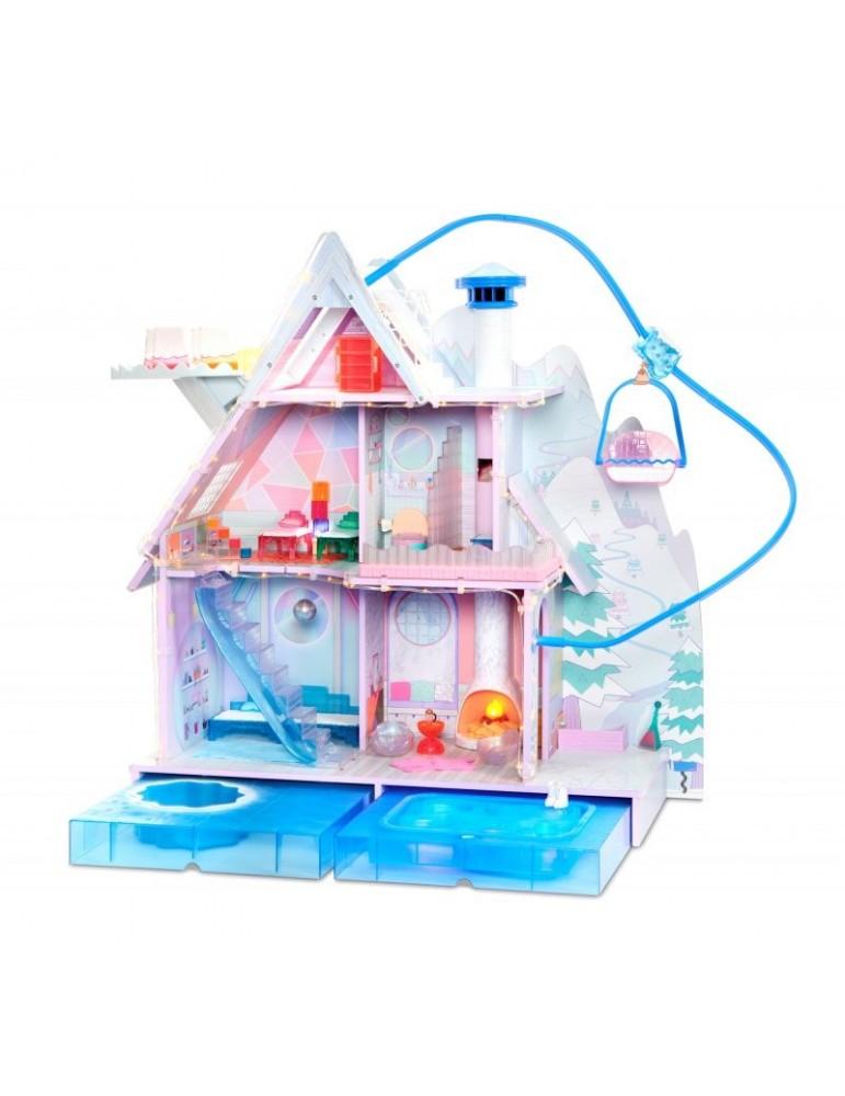 L.O.L. SURPRISE Winter Disco Drewniany Zimowy Domek dla Lalek LOL