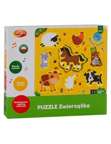 Dumel Puzzle interaktywne 8 elementów Zwierzątka