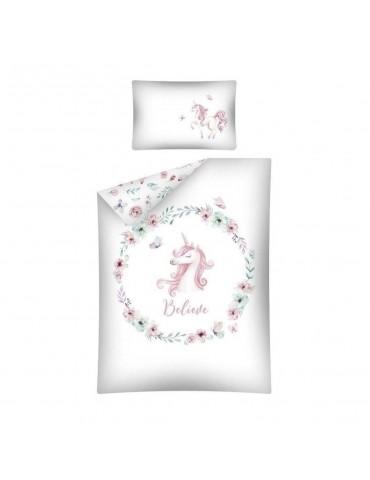 Detexpol Pościel Bambusowa róż 100x135 Jednorożec Unicorn Belive